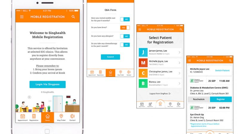 SingHealth Mobile Registration App