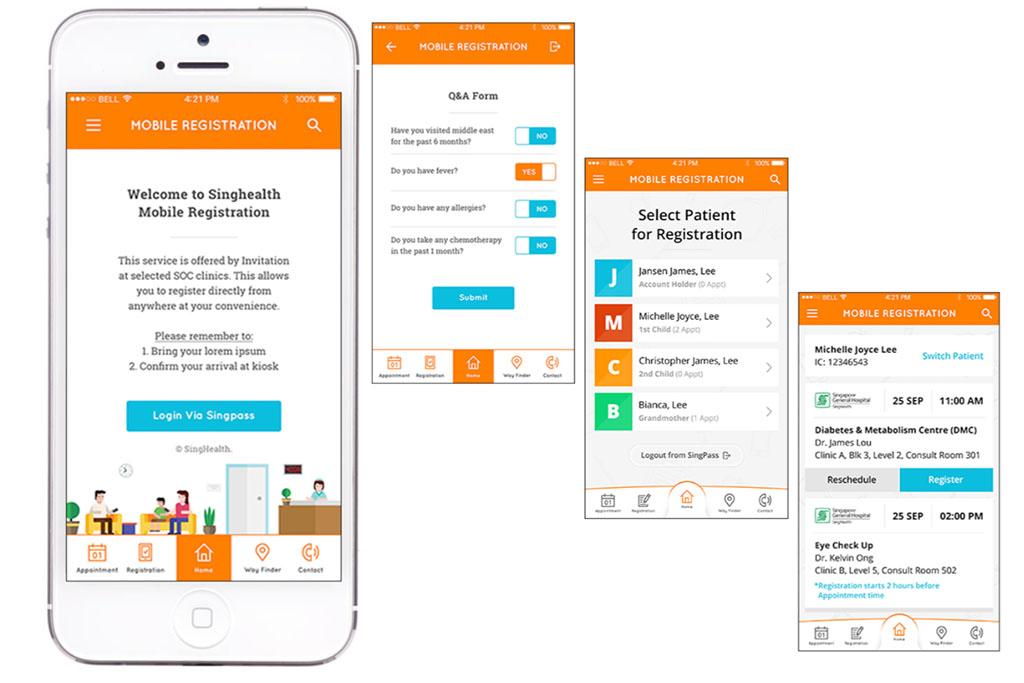 SingHealth Mobile Registration App